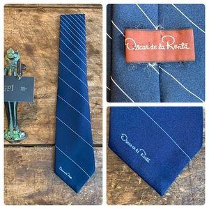 Oscar de la Renta Fineline Navy Tie